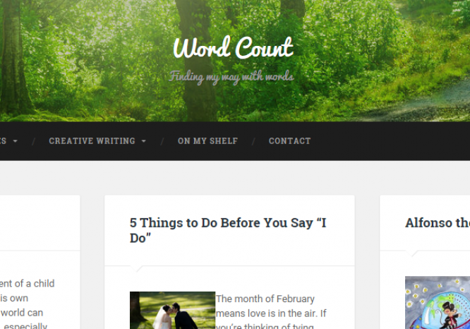 Word Count Wordpress Portfolio Website